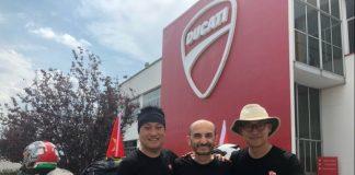 Ken Lu_Ducati China Sales Director__Claudio Domenicali_Ducati CEO__Lv Fei_Founder and CEO of Beijing MOTORWAY_02_UC66637_High