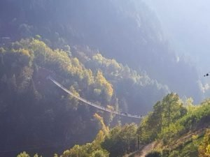 Ponte Tibetano di Tremone Valtellina Morbegno