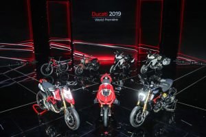 ducati world premiere panigale hypermotard diavel