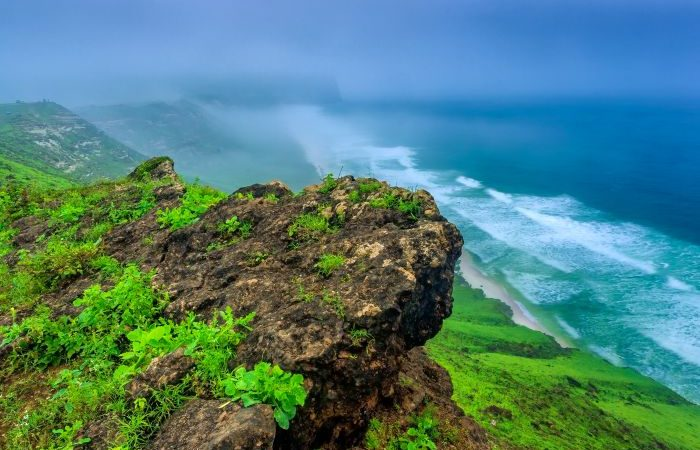 Mountains - Breathtaking top view of the sea in Salalah, Oman