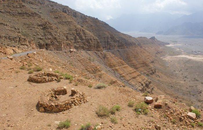 oman road trip up the Khasab mountains