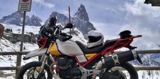 moto guzzi v85tt experience trentino 2019 passo rolle