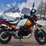 moto guzzi v85tt experience trentino 2019 test review opinione passo pordoi