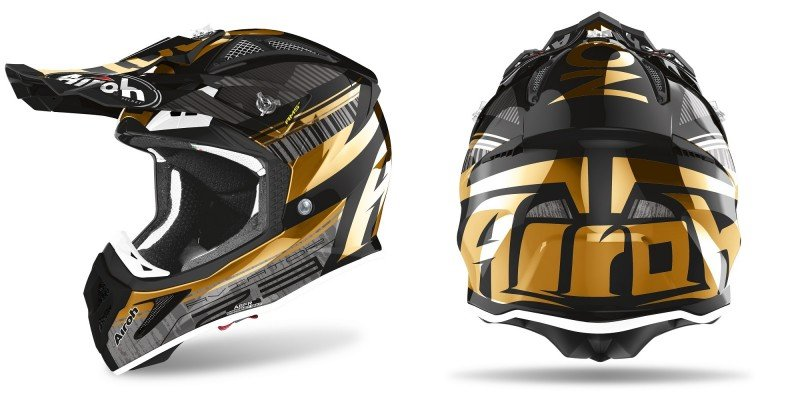 Airoh Helmet Aviator 2.3 Novak Gold Chrome