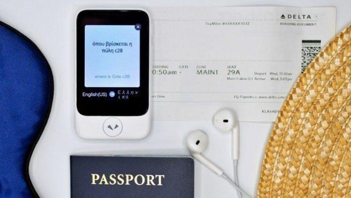 Pocketalk S Traduttore Simultaneo da Viaggio
