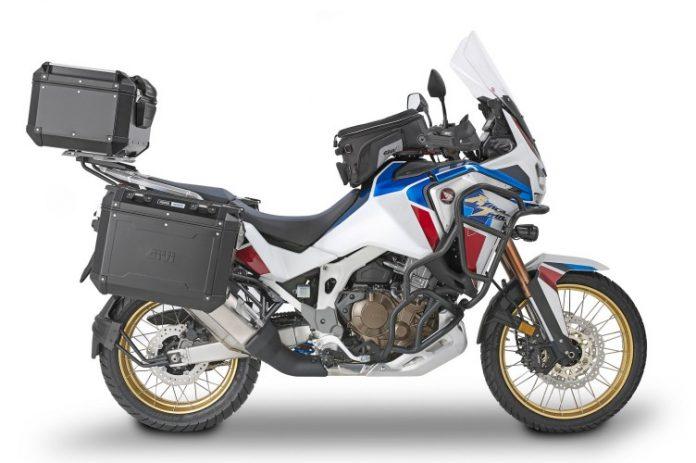 Honda Africa Twin Adventure Sports con trekker outback by GIVI
