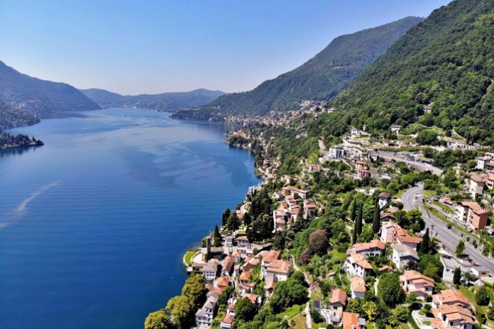 Lago di Como in moto - vista da Carate Urio