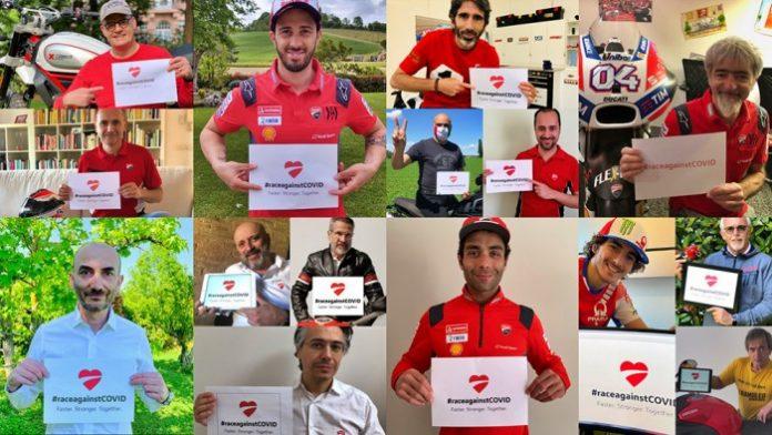 #raceagainstCovid fundraising Ducati