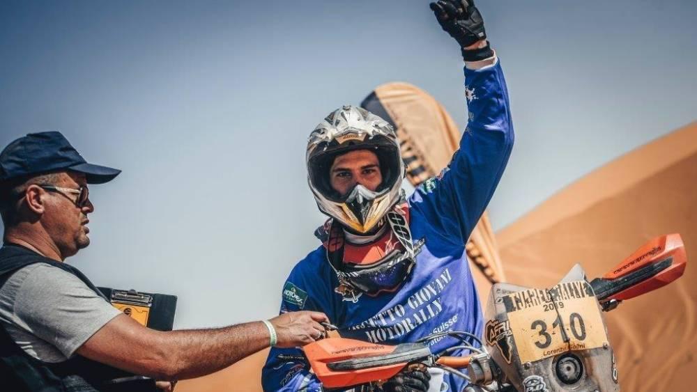 Lorenzio Piolini vincitore al Touareg Rally