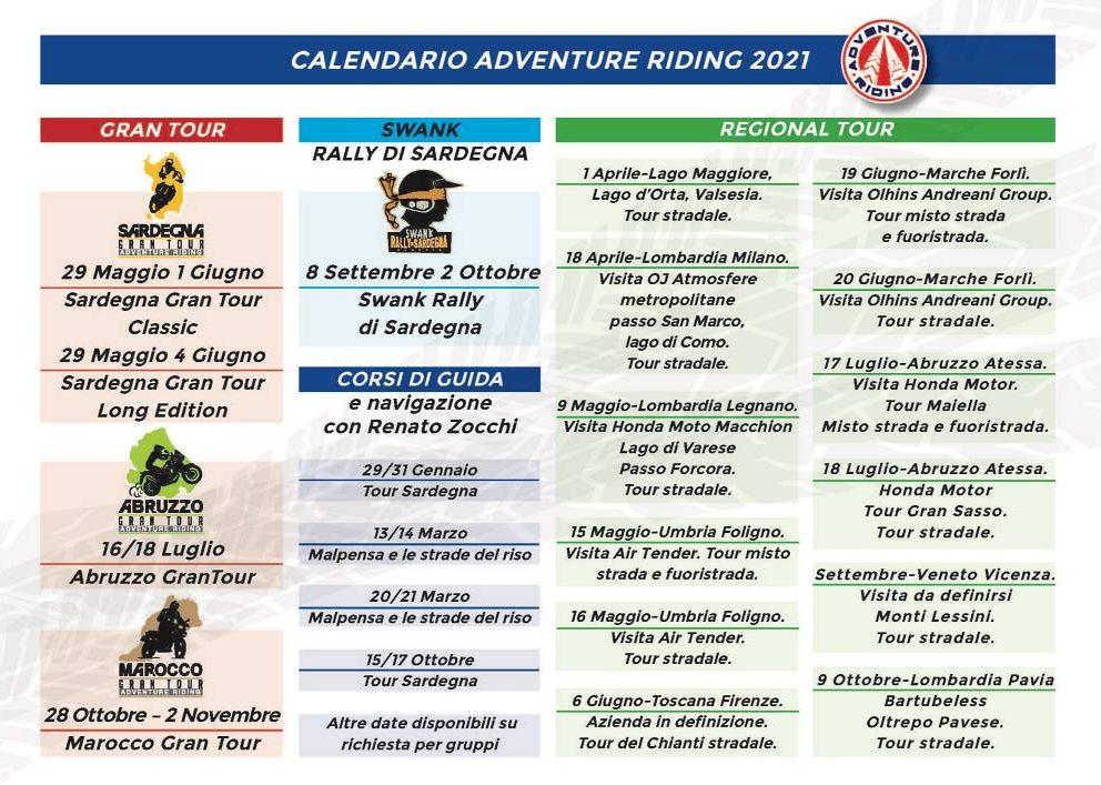 Adventure Riding calendario 2021