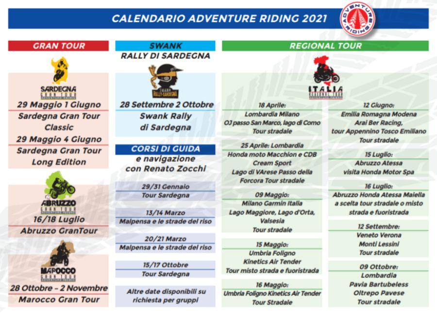 Adventure Riding - Programma 2021