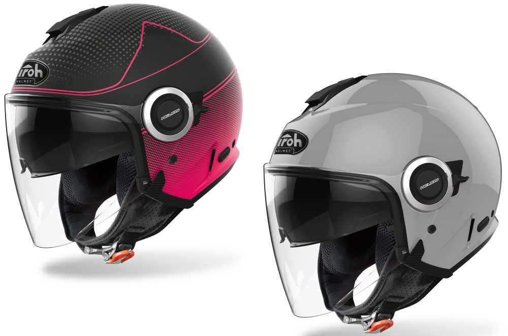Airoh Helios - Pink Matt e Grey casco moto estivo scooter sh tmax custom cafe racer