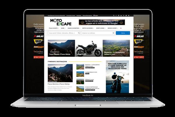 Macbook ADV pubblicità moto excape