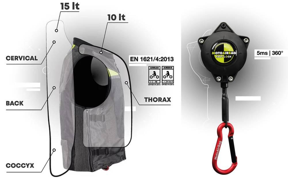 Motoairbag V3 moto airbag test video recensione prova impressioni