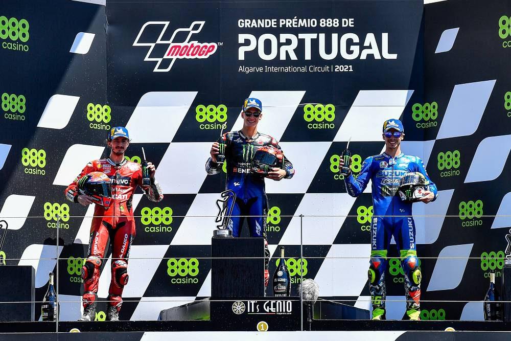 MotoGp Portogallo - Quartararo Bagnaia Mir