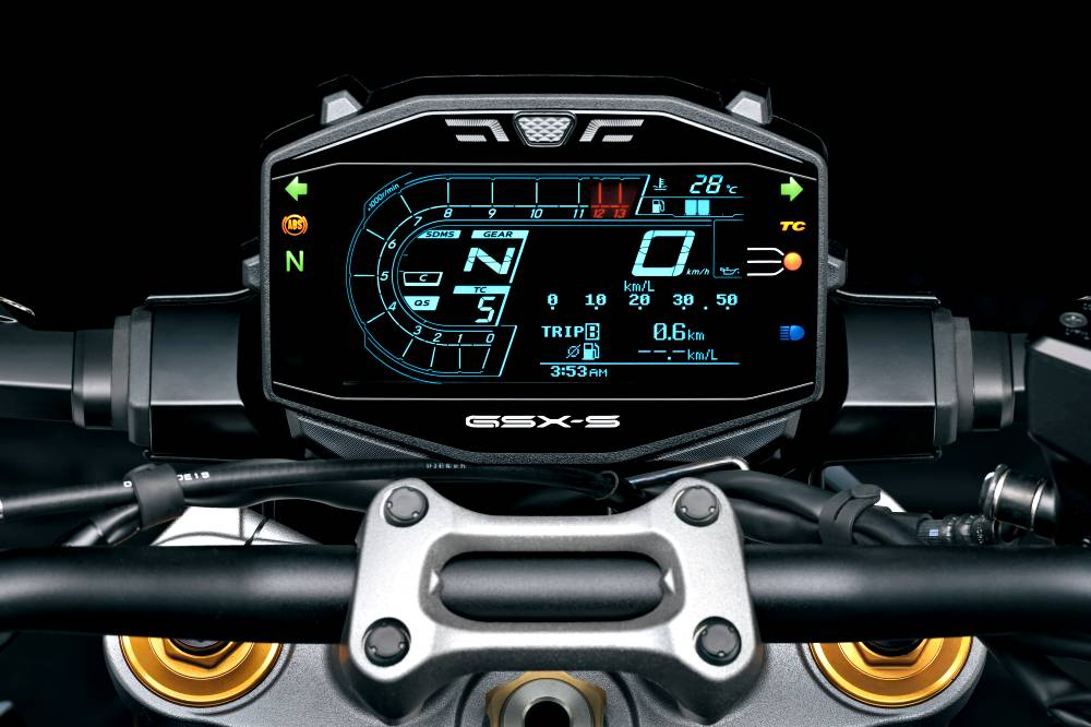Suzuki GSX-S1000 - La strumentazione TFT