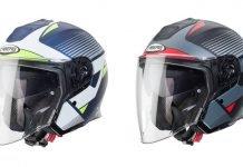 Caberg Flyon Rio casco jet fibra vetro carbonio touring