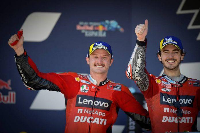 Miller e Bagnaia - Ducati Lenovo jerez spagna motogp