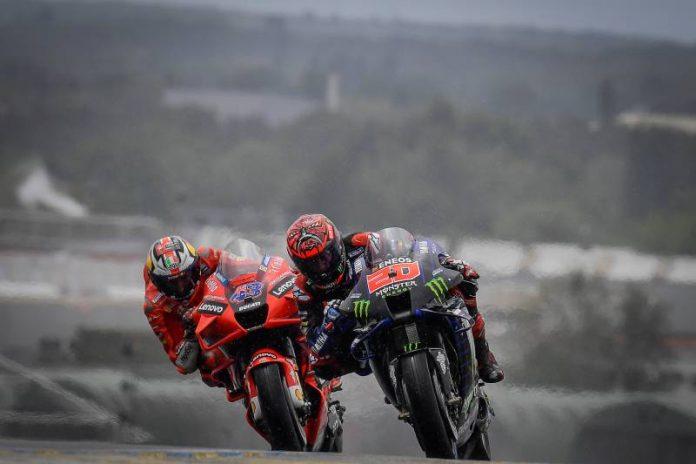 MotoGP Les Mans 2021 - Jack Miller e Quartararo ducati yamaha