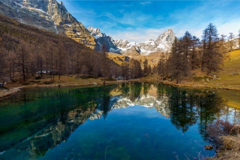 Val D'Aosta in moto bici percorso itinerario Cervino Matterhorn