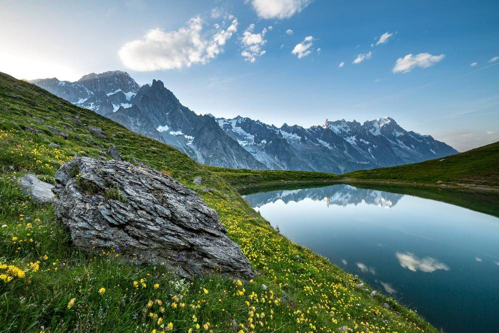 Val D'Aosta in moto bici percorso itinerario Lago Checrouit